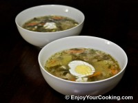 Sorrel and Pork Soup (Green Borscht) Recipe